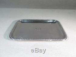 Risler And Carre Paris Old Very Pretty Small Card Tray Sterling Silver