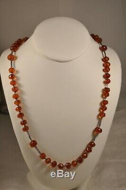 Rosary Old Amber Sterling Silver Antique Solid Silver Amber Rosary XIX