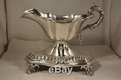 Sauciere Old Sterling Silver MB Debain Antique Solid Silver Saucer 412 Gr