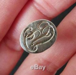 Seal Former 19th Century Sterling Silver Amethyst