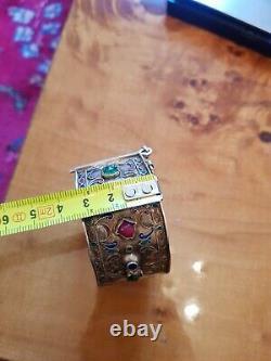 Silver Bracelet Massive Email Vermeil Tunisia Berbere Maghreb Former Djerba Jerba