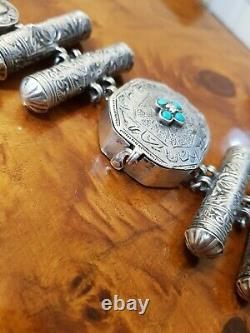 Silver Bracelet Turquoise Ancient Qajar Persia Iran Berber Box Calligraphy
