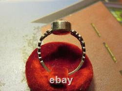 Silver Ring Old Set With A Saphiret Rare Jewel 1870-1900