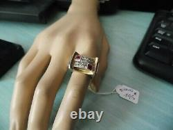 Solid Silver Tank Ring 11 Grams Size 53 Old Minerva
