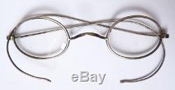 Solid Silver Vintage Glasses And Case Leather Glasses Lorgnon Silver Glasses