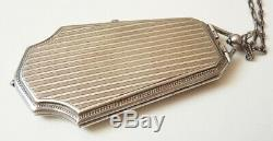 Sterling Silver Clutch Compact Silver Box Old To 1920 105gr