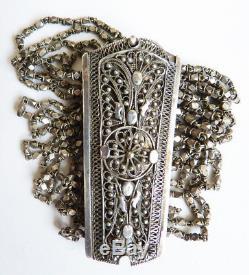 Sterling Silver Multi-row Bracelet Antique Silver Jewel