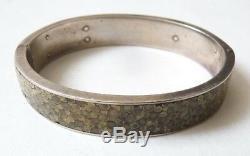 Sterling Silver Old Bracelet + Stingray Art Nouveau 1900 Silver