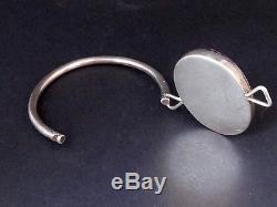 Stunning Old Vintage Solid Silver Bracelet And 70s Quartz Designer