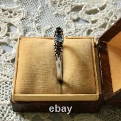 Sublime Ancienne Ring Grenat Sapphire Silver Massif, Tres Belle