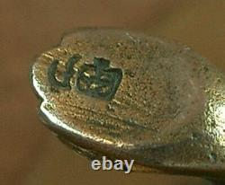 Superb Ancient Silver Saleron Massif Emaillé