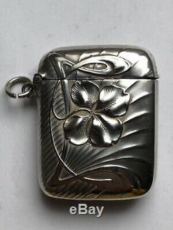 Superb Old Box Of Matches Pyrogene Sterling Silver Art Nouveau