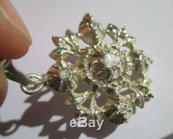 Superb Old Regional Pendant Savoy XIX Diamonds Sterling Silver 7.7g 4cm