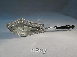 Superb Old Shovel A Fish In Sterling Silver Empire Era Chiseled Compigne