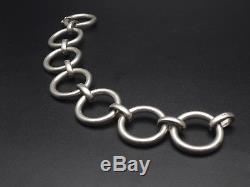 Superb Old Vintage 70m Sterling Silver Gourmette Bracelet