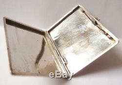 Transmission Cigarette Case Engraved Solid Silver Around 1920 Old Silver Box 100g