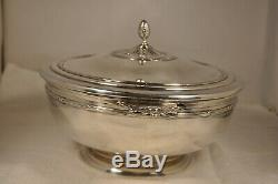 Vegetable Dish Old Sterling Silver Antique Solid Silver Centerpiece MB Page 827 Gr