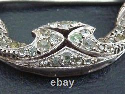 Very Beautiful And Ancient Art Deco Metal Silver Massive And Stones
