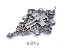 Very Nice Old Boulogne Cross Sterling Silver Jewelry XIX Regional