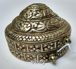 Very Old Silver-crafted Bethel Box Bouthan 17/18th