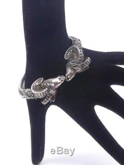 Vintage Sterling Silver Bangle Bracelet (2)