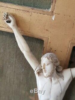 Wonderful Large Carved Christ Former Late 17th Early 18th