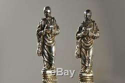 2 Cuilleres Ancien Argent Massif Vermeil Antique Spoon Coin Silver Sheffiel 1911