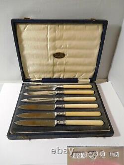 6 couteaux à desserts anciens XIXéme argent massif