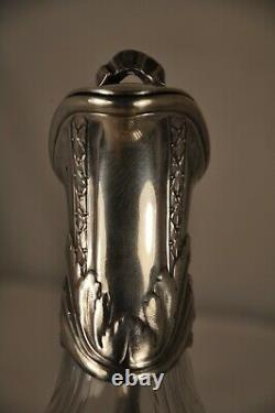 Aiguiere Ancien Argent Massif Antique Solid Silver Decanter Mo Risler Carre