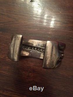 Ancien Bracelet Argent Massif