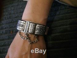 Ancien Bracelet Berbère En Argent Magreb Ethnique vintage