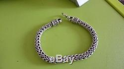 Ancien Bracelet Gourmette En Argent Massif Silver 925 tête minerve