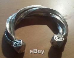 Ancien Bracelet Jonc Esclave Argent Afrique Touareg Berbère A identifier 116,2g