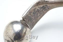 Ancien Bracelet de cheville en Argent Mauritanie Maroc Berbère N° 2
