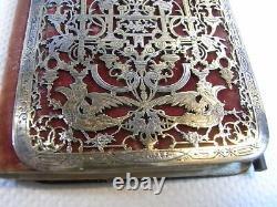 Ancien Carnet De Bal Livre Message Vermeil Or Argent Massif XIX Calendrier 1849