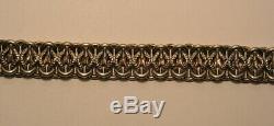 Ancien Elegant Bracelet Jolie Maille En Argent Massif