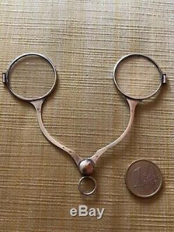 Ancien Lunette Ciseaux Incroyable Homme Optique Lorgnon Lorgnette Argent Massif