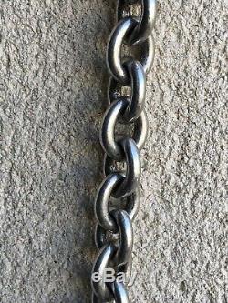 Ancien Très Beau Bracelet Argent Massif 925 Maille Marine Style HERMES