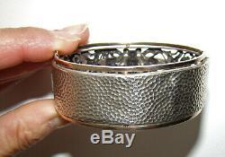 Ancien bracelet ajouré renaissance argent massif XIXème