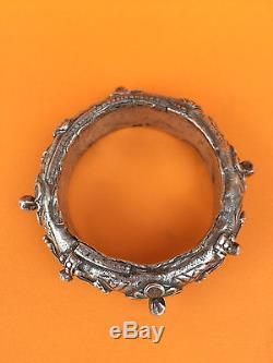Ancien bracelet argent émaux Maroc bijou berbère amazigh XIXème
