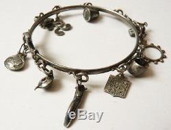 Ancien bracelet en ARGENT massif signé H. TEGUY Pays Basque celtique