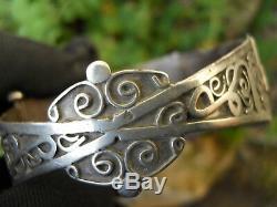Ancien bracelet en argent massif Berbère ou Kabyle, collection bijou