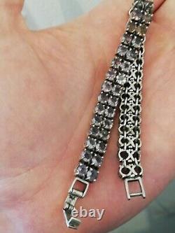 Ancien bracelet femme en argent massif et pierres à identifier