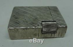 Ancien briquet a essense argent massif Vintage Sterling silver Petrol lighter
