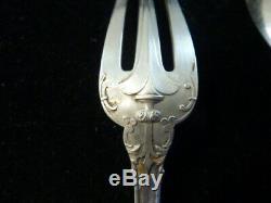 Ancien couvert fourchette cuillère en argent massif Puiforcat fer de lance
