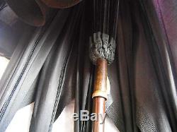Ancien parapluie pommeau en argent massif décor Louis XVI Umbrella silver