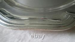 Ancien plat / assiette en Argent Massif silver modèle à filet Minerve 676 gr