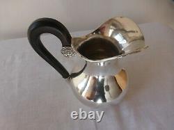 Ancien pot à lait argent XIXème Hollande. Verseuse. Antique silver milk jug