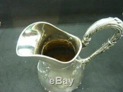 Ancien pot à lait crémier en argent massif minerve