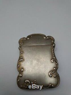 Ancien pyrogène art nouveau en argent massif orfèvre HM femme match holder